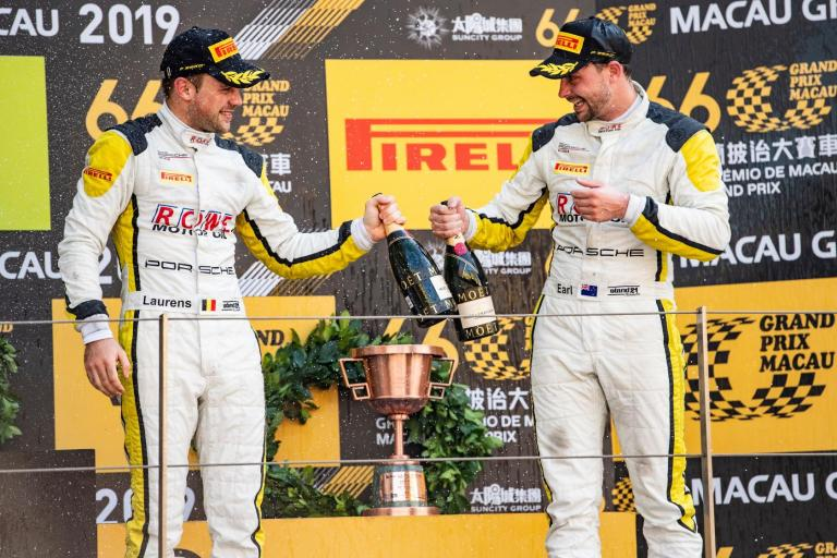 Porsche customer scores double podium in fifth FIA GT World Cup from Macau